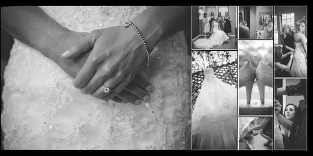Joanna wedding Helotes getting ready album layout