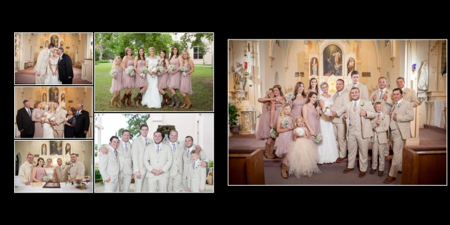 Emily wedding St Hedwig family wedding album layout