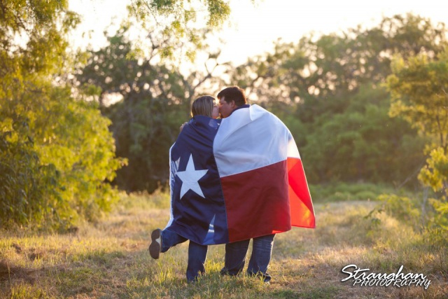 Texas themed engagement