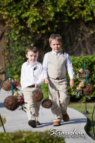Little boys Castle Avalon Wedding