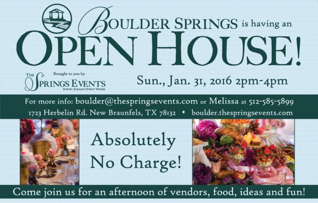 Boulder Springs Open house winter 2016