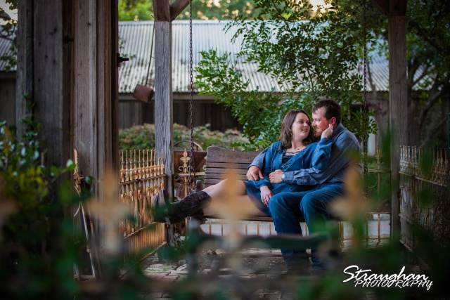 Heather and Wes's engagement session Gruene TX on the swing