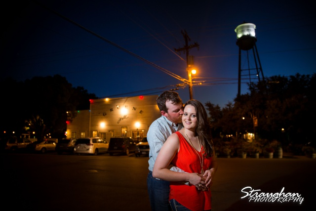Heather and Wes's engagement session Gruene TX in front of Gruene Hall