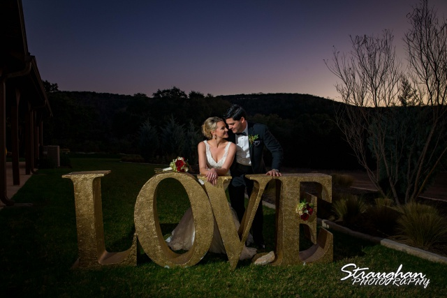 Sarah Higley wedding Bella Springs love at night