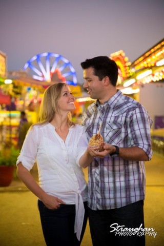 Jessica engagement Comal county fair apple