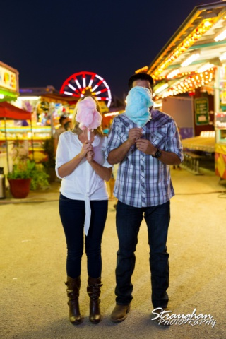 Jessica engagement Comal county fair cotton candy