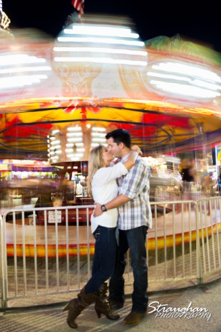 Jessica engagement Comal county kissing carousel