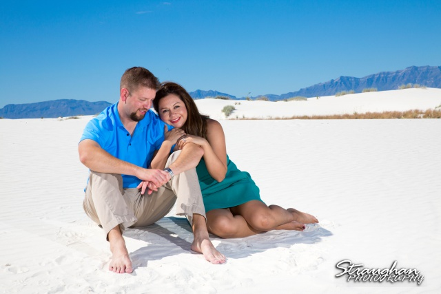 Kevin engagement at white sands sitting