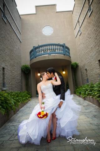 Allison wedding Castle Avalon couple castle front