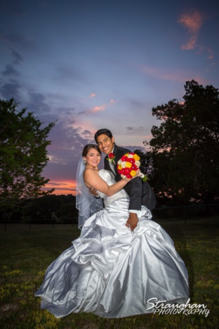 Allison wedding Castle Avalon couple sunset