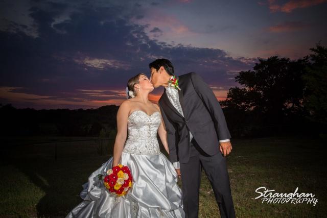 Allison wedding Castle Avalon couple sunset landscape