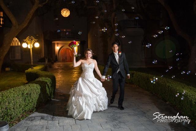 Allison wedding Castle Avalon exit