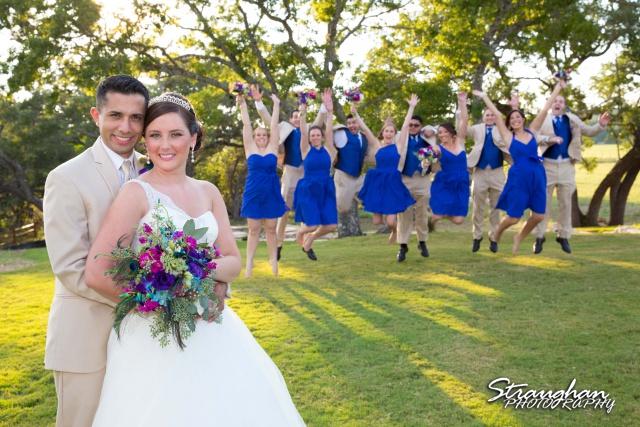 Kristan's wedding Bella Springs Boerne Wedding party
