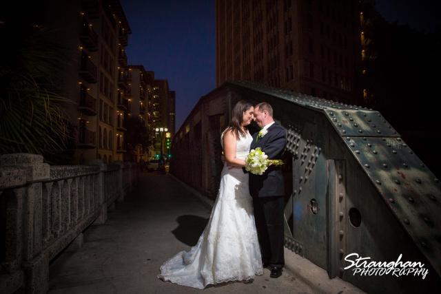Tony Wedding Rio Plaza on commerce bridge