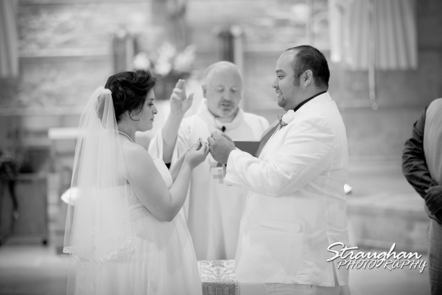 Ari wedding San Antonio St. Francis of Assisi Catholic Church ring blessing