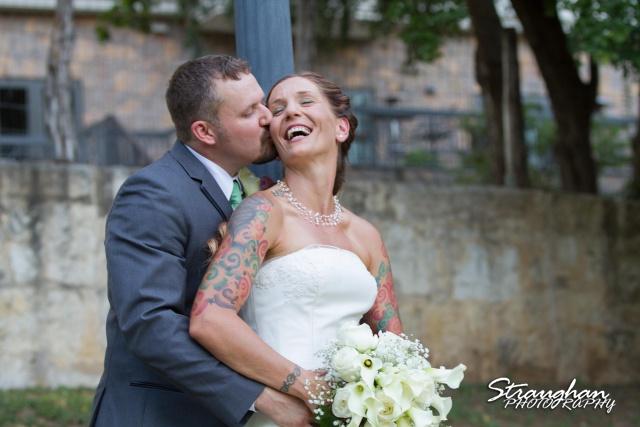 Sheehan wedding Inn on the riverwalk Amy laughing
