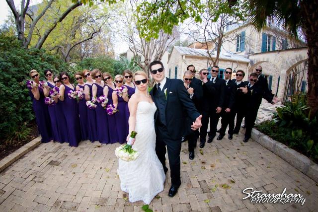 Carly's wedding Southwest School of Art bridal party