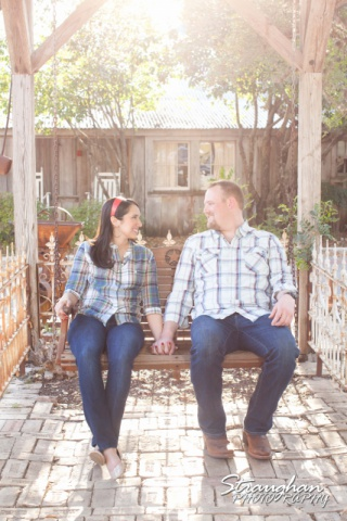 Alexis engagement Gruene swing with Buckley