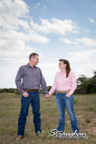 Tina engagement New Braunfels with blue sky