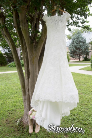 Emily and Brandon's Wedding, Annunciation Catholic Church dress and boots