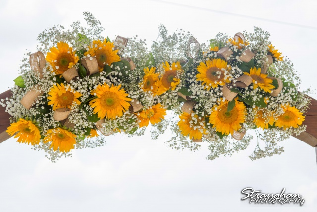 Lindsey and Tommy's Wedding, Boulder Springs flower arch arrangment