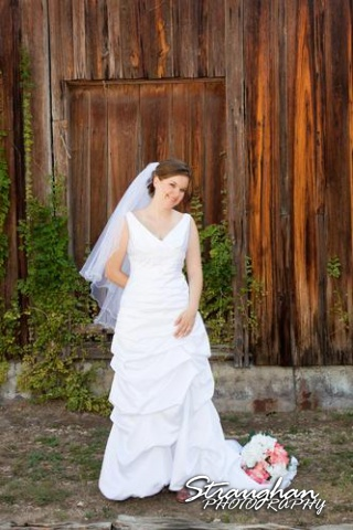 Kathleen's Bridal sitting wood wall