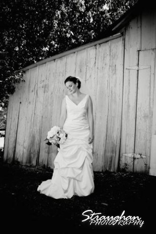 Kathleen's Bridal sitting wood wall black white