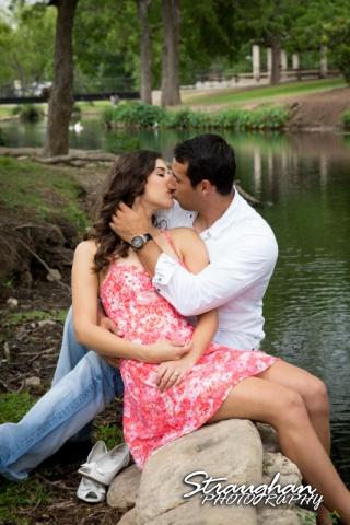 jays engagement, a sweet kiss
