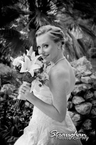 Casey's Bridal Close Up Japanese Tea Gardens black white