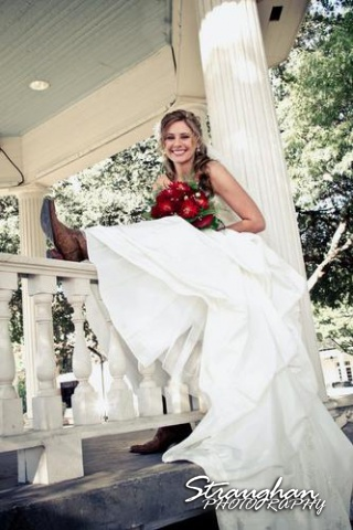 Brittany's Bridal New Braunfels sitting on the fence