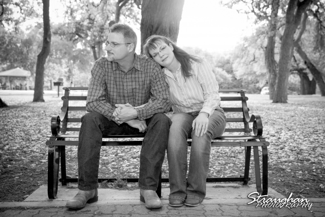 Tina engagement New Braunfels on bench