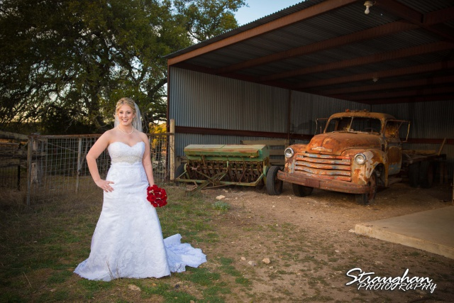 Katie's Bridal Kendall Plantation with the truck