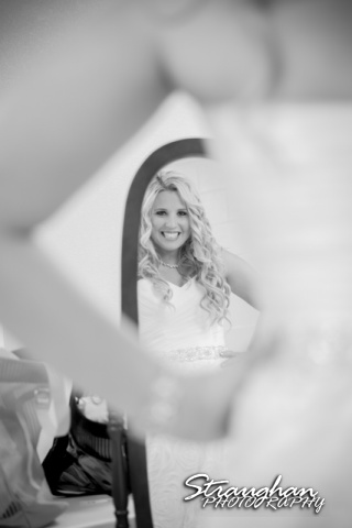 Eric and robyns wedding, looking in the mirror