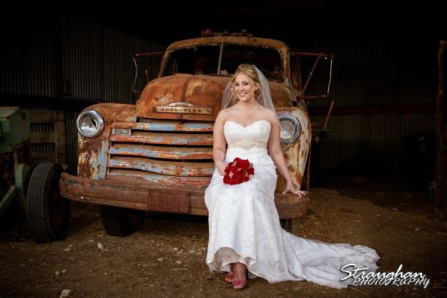 Katie's Bridal Kendall Plantation sitting on truck