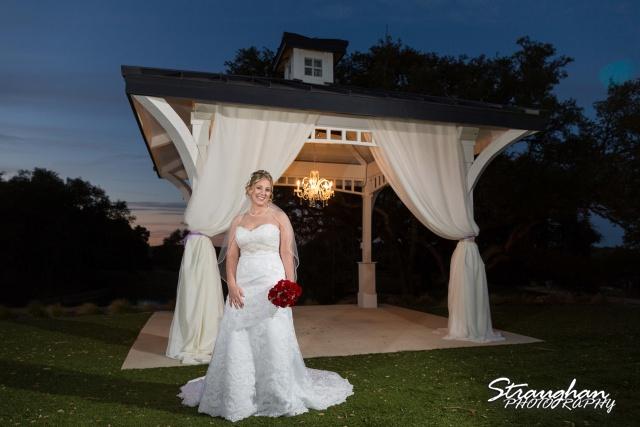 Katie's Bridal Kendall Plantation by gazebo