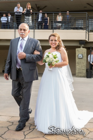 Andi and Ricks wedding, walking her down the aile