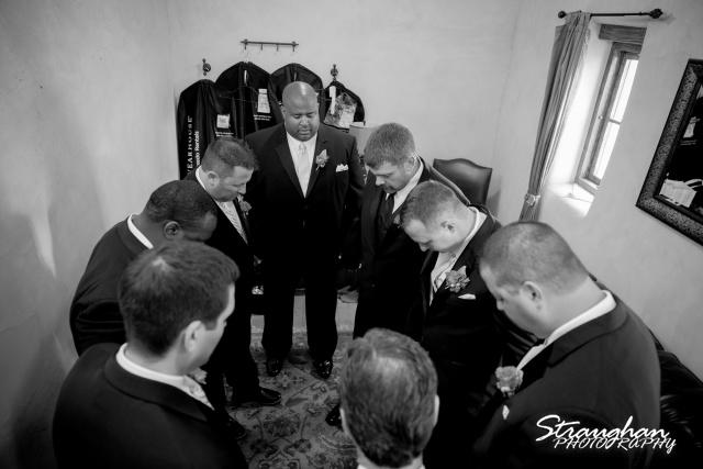 Jackie and Steve's wedding, grooms praiyer