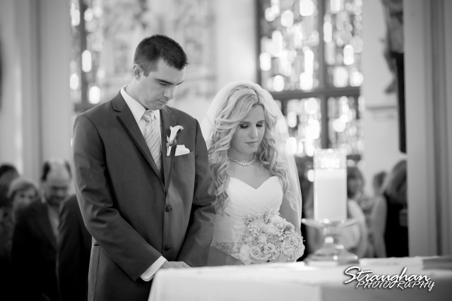 Eric and robyns wedding, standing at alter