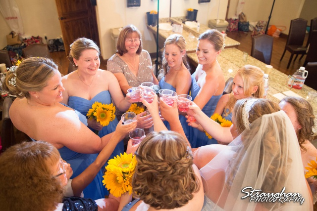 Lindsey and Tommy's Wedding, Boulder Springs toast
