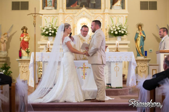 Emily and Brandon's Wedding, Annunciation Catholic Church bride and groom together1