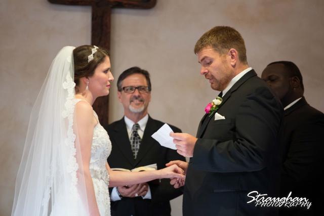 Jackie and Steve's wedding, walking back down