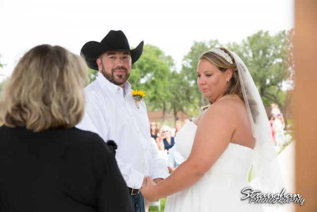 Lindsey and Tommy's Wedding, Boulder Springs bride and groom holding hands