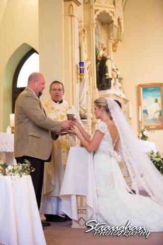 Emily and Brandon's Wedding, Annunciation Catholic Church, wine