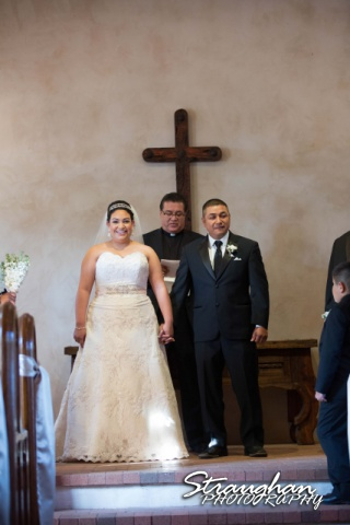 Alex wedding Lost Mission leaving alter bride and groom