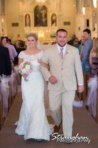 Emily and Brandon's Wedding, Annunciation Catholic Church back down the ahile