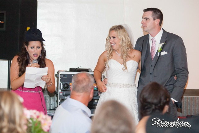Eric and robyns wedding, a silly toast