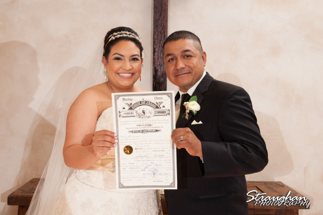 Alex wedding Lost Mission Holding marriage license