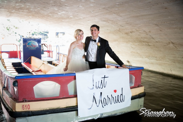 Michelle and Juan's,San Fernando Cathedral just married boat