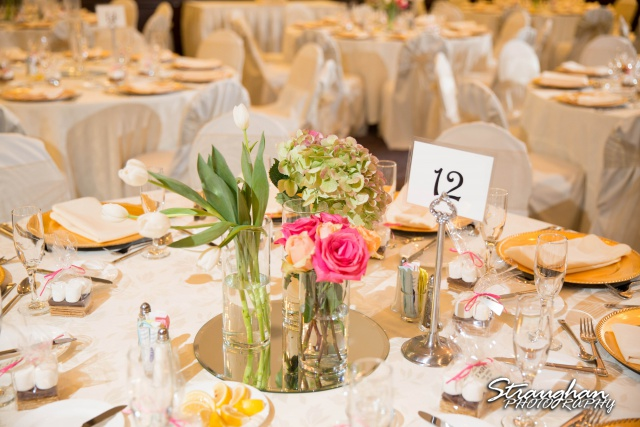 Michelle and Juan's,San Fernando Cathedral table arrangment