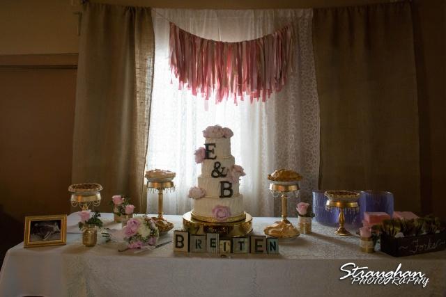Emily and Brandon's Wedding, Annunciation Catholic Church cake